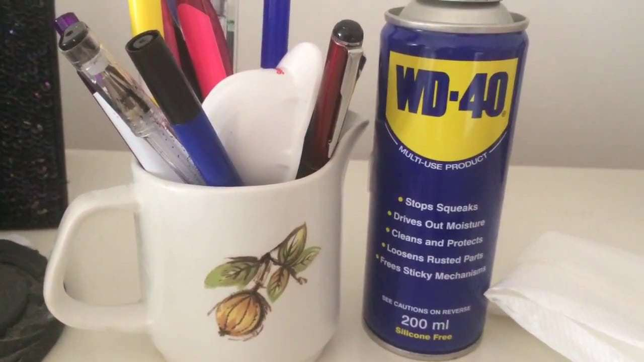 wd40 pen removal